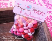 50% off INSTANT DOWNLOAD - Printable Candy Bag Labels - Happy Valentine's Day - Tweet Bird - You are so Tweet - Memorable Moments Studio