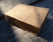 300 Pack 4 Bar Burlap Backers for Wedding Invitations