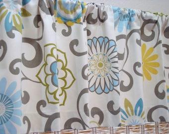 Waverly Pom Pom Designer Modern Kitchen Curtain Valance Spa/Confetti/Harvest  50x12 50x14  50x16  50x18
