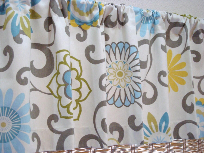 Waverly pom pom designer modern valance waverly valance 50x12 - Contemporary curtains kitchen ...
