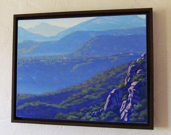 Plein Air Painting in Oil, Southern California, Topanga, original artwork by Elena Roché