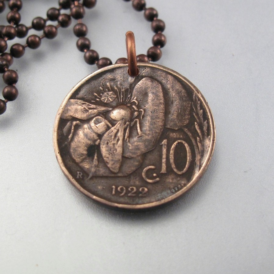coin jewelry italy coin necklace italian vintage