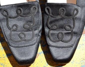 Sold Pls Do Not Purchase Thx vtg Authentic CHRISTIAN LOUBOUTIN Black Satin Smoking Slipper Flats 8 euro 38.5