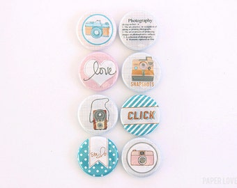 Snapshot - Set of 8 Flair Buttons