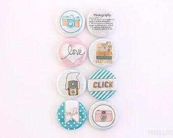 Snapshot - Set of 8 Flair Buttons