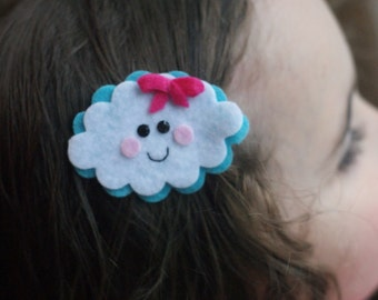 Cloud Hair Clip- Meet Miss Puff