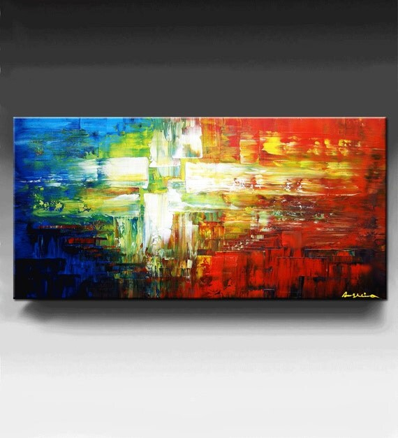 Abstract Painting, Original Texture Painting, Wall Decor, Palette Knife Painting  oil painting on Canvas Ready to Hang