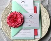 Modern Chic Lace Wedding Invitation Suite Design ------- Deposit to get started