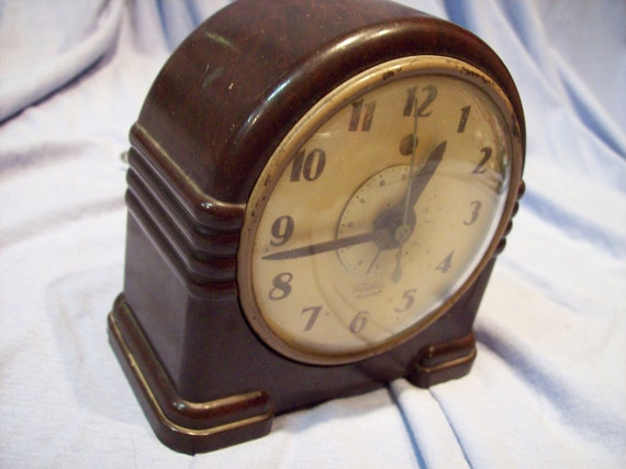 Telechron Brand Alarm Clock Vintage Electric Watch By