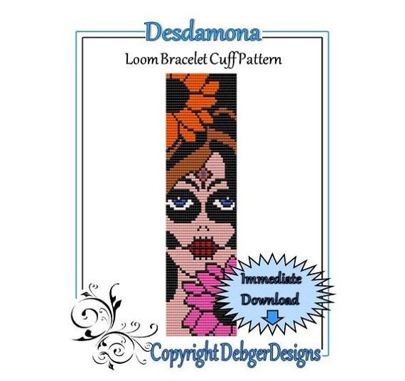 Desdamona - Loom Bracelet Cuff Pattern