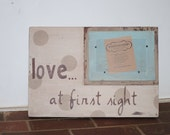 Custom order...for two of these distressed picture frame...ultrasound photo...frames...4x6 frame opening...birth announcement frame