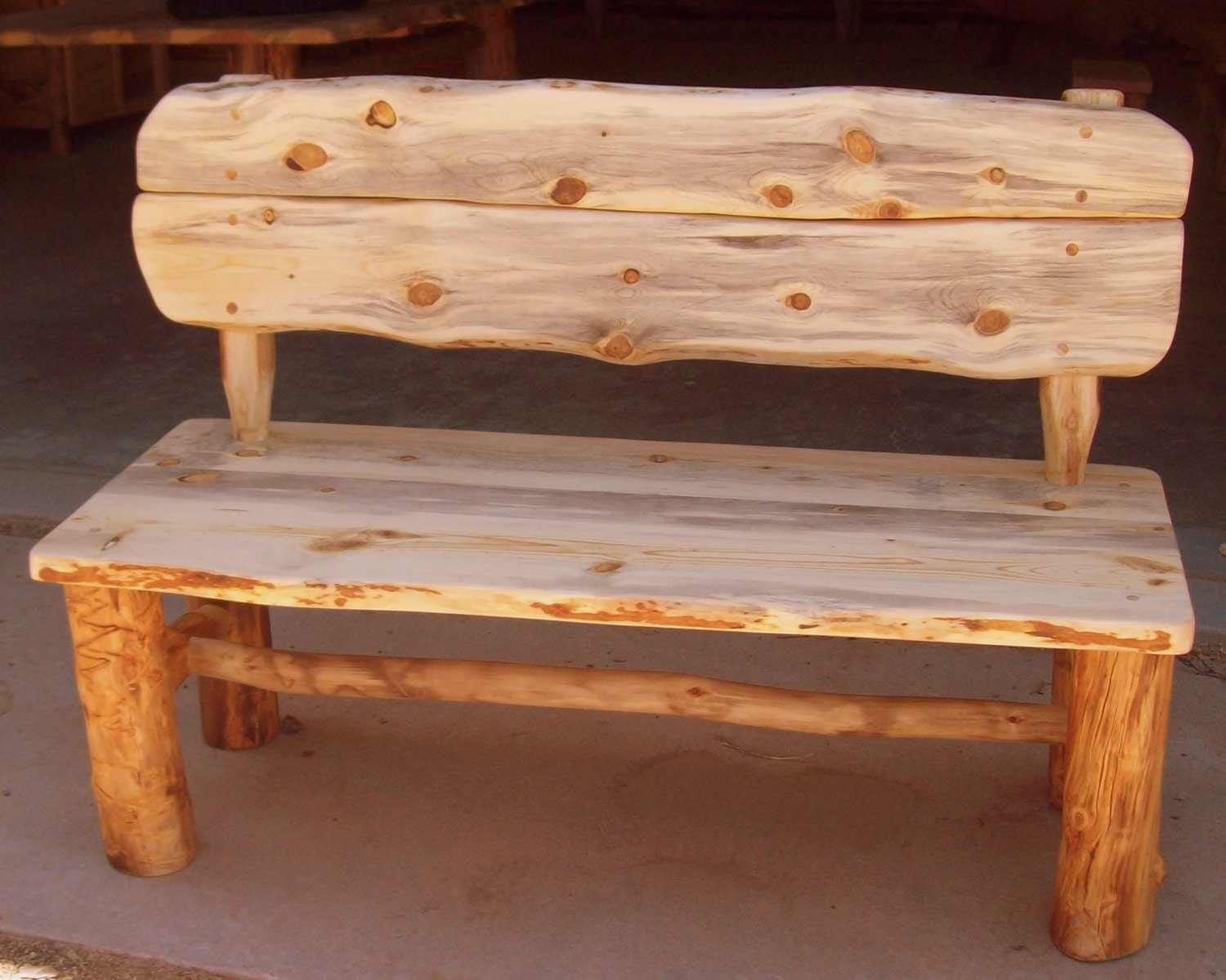 Rustic Wood Bench With Back. Full resolution‎  pic, nominally Width 1500 Height 1199 pixels, pic with #AF501C.