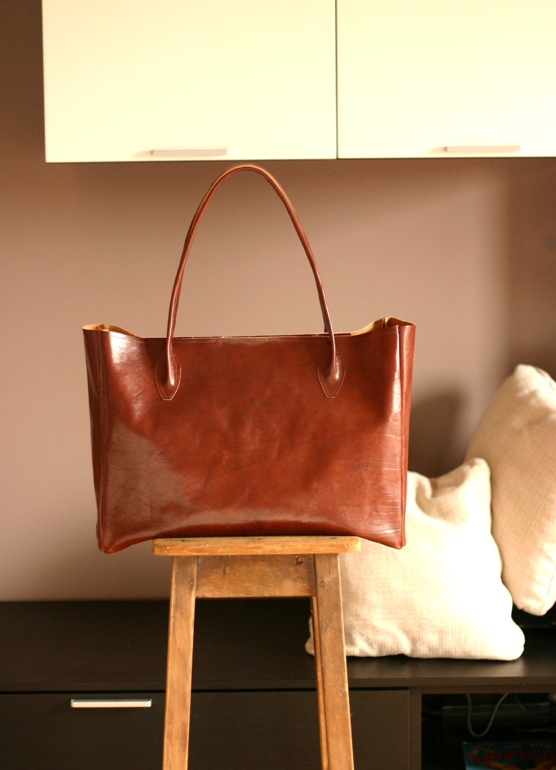 Free shipping to EU Leather bag Leather tote bag Leather
