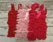 SALE  CLEARANCE - Vintage Lace Pettiromper - Baby Girl Petti Romper - first birthday outfit
