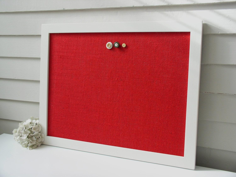 Modern magnetic burlap bulletin board 20 5 x 26 5 inches with for Modern bulletin board