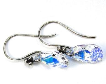 Teardrop Swarovski Crystal AB Earrings