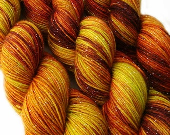 glitter sock yarn SHIRE Lord of the Rings 70/25/5 sw merino/nylon/stellina 3.5oz / 435 yards
