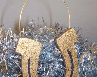 Horseshoe Ornament just in time for St Patrick's DayThese