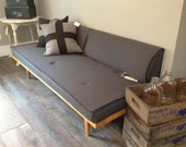 Stunning Mid-century Daybed with Back Cushions