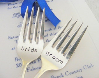 Wedding Forks Bride and Groom Cake Forks