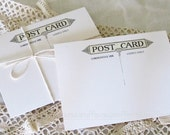 Smooth Blank Postcards Set of 10 Vintage Art Deco Postcard Back White or Cream 4x6