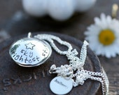 Personalized Brightest Star Locket - silver locket, girls locket, custom locket, bespoke locket, birthday gift, baptism gift