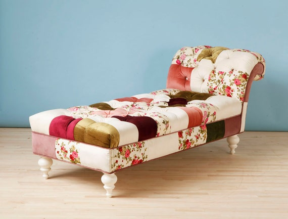 Josephine patchwork chaise lounge for Chaise patchwork