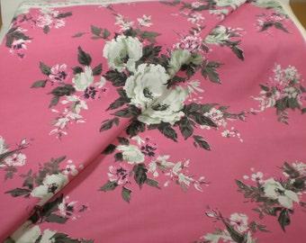 """Vintage Fabric // Cotton // 48"""" wide // Home Dec"""