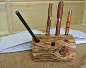Gifts For Him, Log Pen Holder, Professor Gift