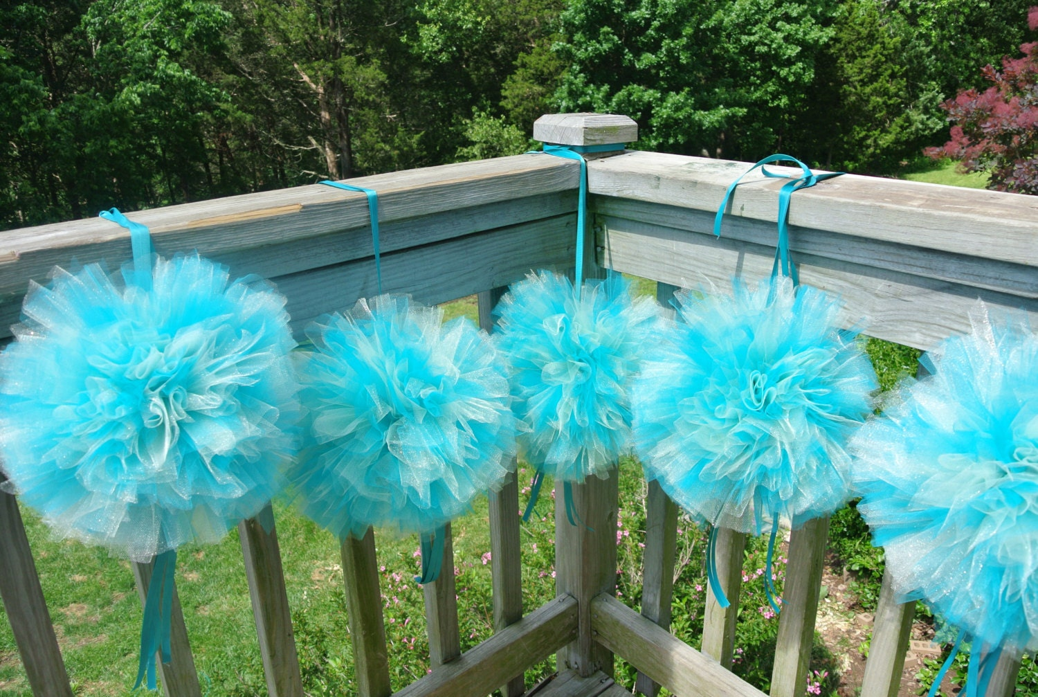 tulle and lights wedding decor dairy farm wedding decor tulle pom pom bridal shower 8097