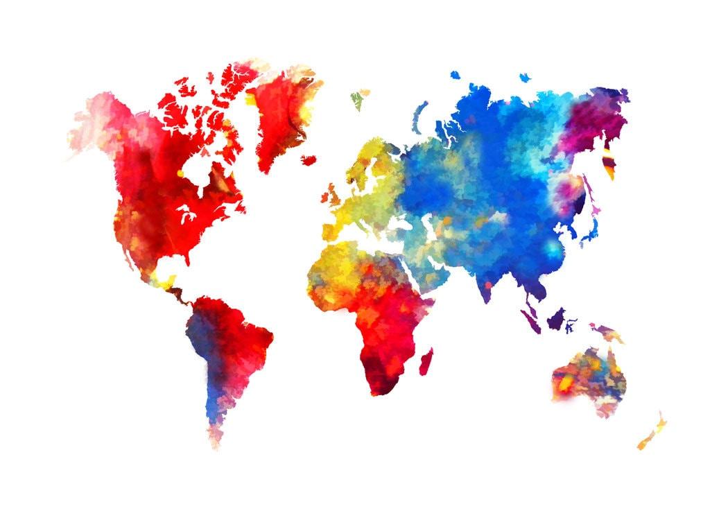 original abstract world map - photo #15