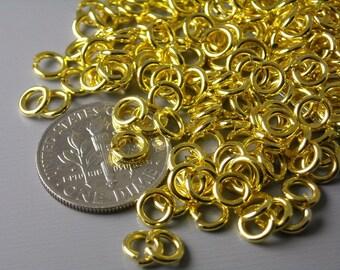 JUMPRING-GOLD-20G-5MM - 20 gauge 5mm Gold Plated Open Jump Rings - 50 pcs