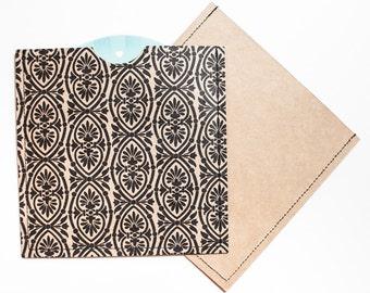 DVD Cases / Sleeves - Set of 10 brown/black printed DVD sleeves
