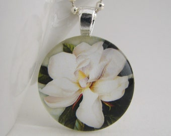 Magnolia Pendant with Free Necklace