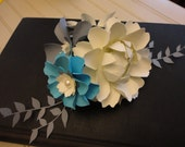 Wedding Centerpiece Paper Flowers Cake Topper Handmade Small Centerpiece made to match your colors
