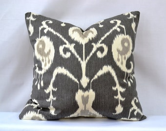 Decorative Throw Pillow, 20 by 20 inch, Java Ikat, (Cover only)