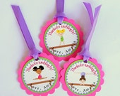 Gymnastics Personalized Party Gift Tags Set of 12