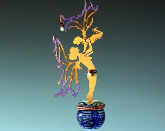 Potion Bottle - Boy Fairy - Mother & Child With Son -Your choice of bottle color