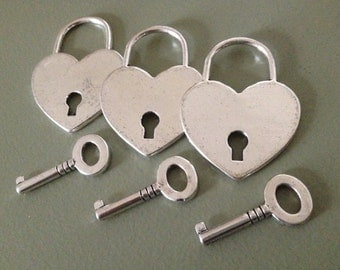 26 Skeleton Keys With Padlock Charms Antique Silver Lock And Key Set Bulk Jewelry Charms Key To My Heart Padlock Charms