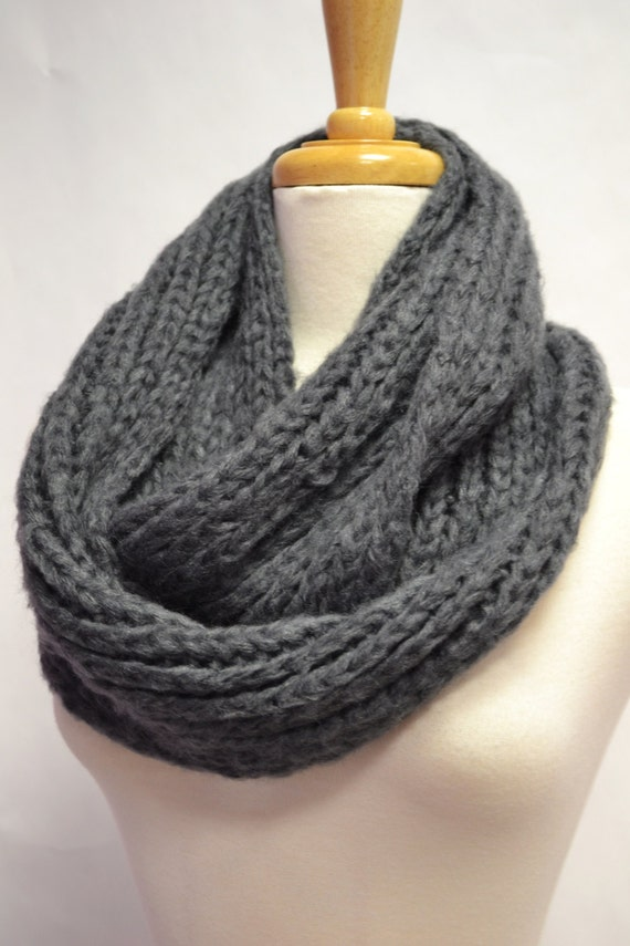 Buttery Soft Chunky Knitted Infinity Circle Loop Scarf Cowl Snood Eternity