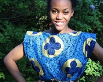 African Print, Holland Wax Cotton, Tunic Dress, Loose Dress