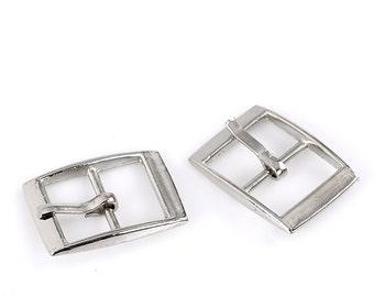 6 Silver Tone Metal Rectangle Belt Buckle Findings fin0158