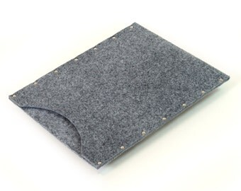 MacBook 15 Pro case cover sleeve laptop bag grey synthetic felt