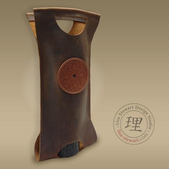 Leather Wine Tote -Brown Mocha MarrakechCats