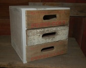 pepsi soda pop crate 3 drawer cabinet / drawers