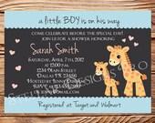 Giraffe Baby shower Invitation, Boy, Girl, Boy Baby Shower Invite, Girl Baby Shower Invitation, Pink, Yellow, Gray, 1324
