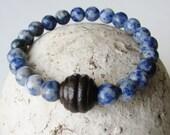 Mens Bracelet Gifts for Men Sodalite Bracelet Blue Bracelet Natural Stone Jewelry Gift Women Hypoallergenic Jewelry Gemstone Bracelet Boho
