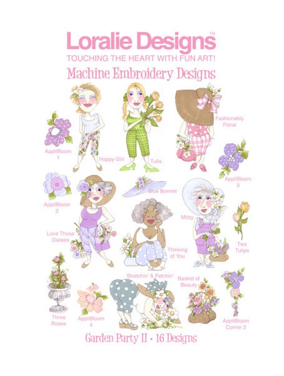 Garden Party Il Embroidery Design Collection - CD