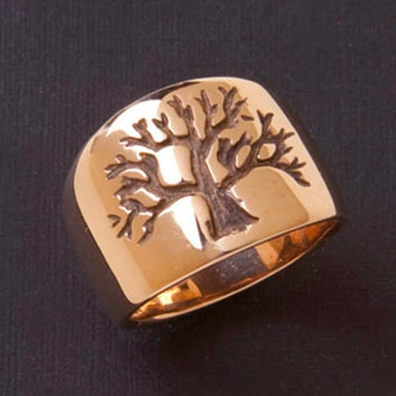 Items Similar To 14k Gold Tree Of Life Ring On Etsy