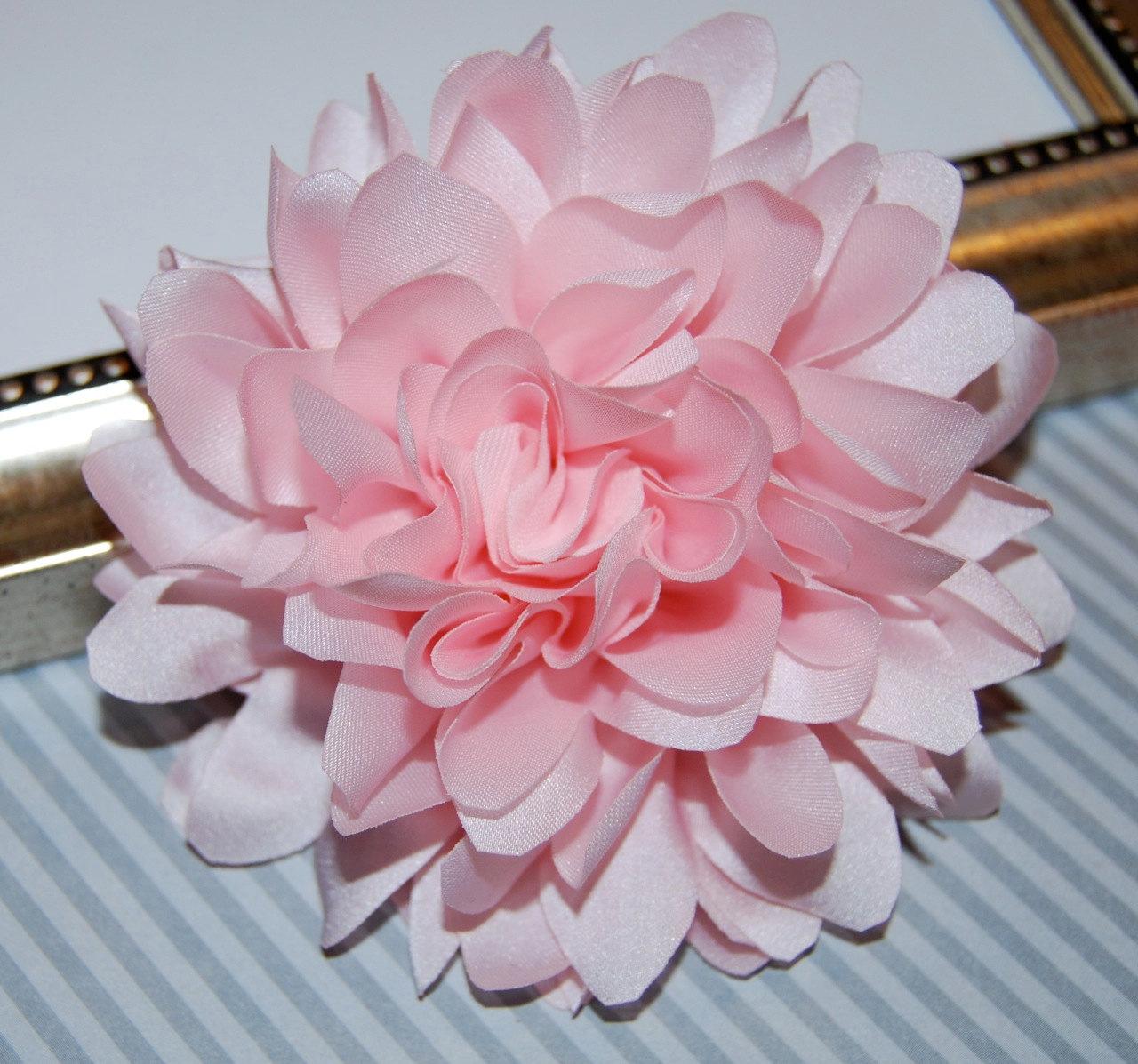 Flower Lights Australia Light Soft Pink Fabric Flower